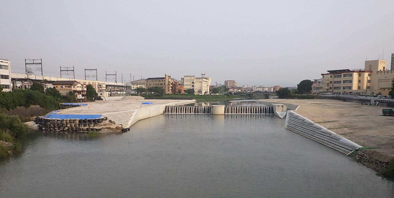 那珂川(那珂地区)番托井堰改築工事5工区