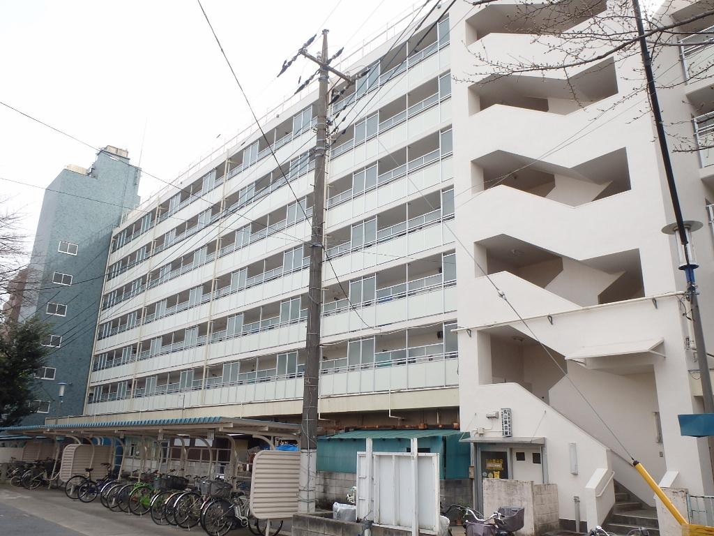 都営丸山二丁目アパート外壁改修、鉄部塗装、手摺改修工事