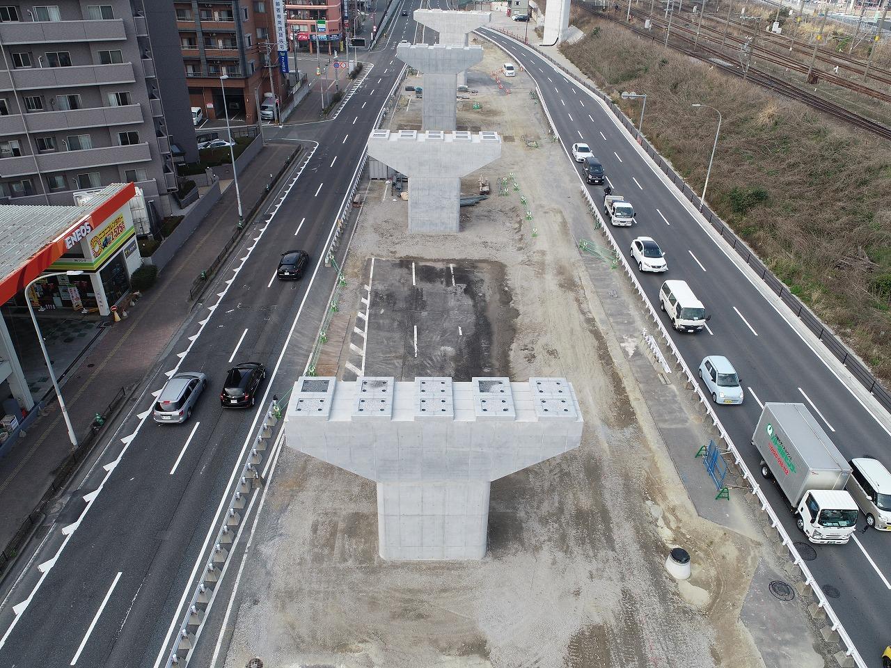 福岡3号春の町ランプ橋下部工(P5・P6)工事